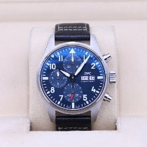IWC Pilot Chronograph pre-owned 41mm Blue Chronograph Date Leather