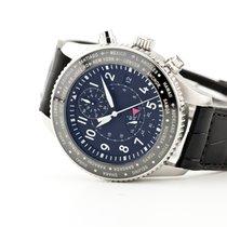 IWC Pilot Chronograph usados Negro Cronógrafo Fecha GMT Piel