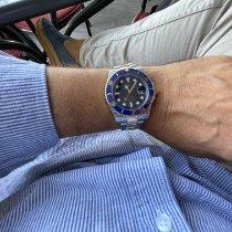 Rolex Submariner Date folosit 40mm Albastru Data Aur/Otel