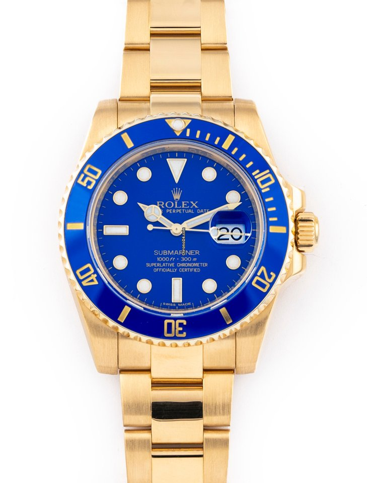 Rolex Submariner Date 116618LB 2014 pre-owned