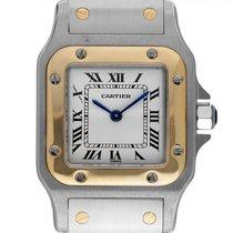 Cartier Santos Galbée Gold/Steel 35mm Roman numerals
