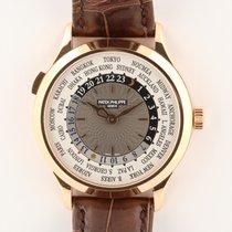 Patek Philippe World Time Pозовое золото 38.5mm Cерый Aрабские