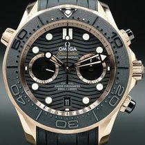 Omega Automatic Black No numerals 44mm Seamaster Diver 300 M