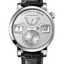 A. Lange & Söhne Platinum Silver pre-owned Zeitwerk