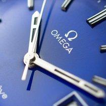 歐米茄 Genève 鋼 35mm 藍色 無數字