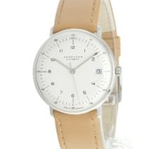 Junghans max bill Automatic Steel 34mm White No numerals
