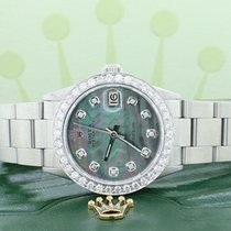 Rolex Steel Automatic Mother of pearl 31mm pre-owned Oyster Precision