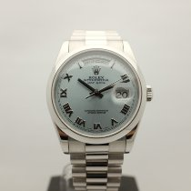 Rolex Day-Date 36 Platinum 36mm Blue