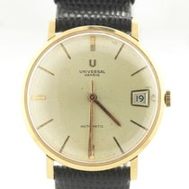 Universal Genève Yellow gold Automatic Silver 35mm pre-owned