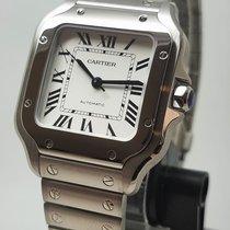 Cartier Santos (submodel) Steel 35.1mm Silver Roman numerals