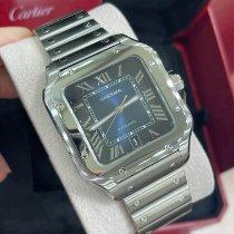 Cartier Santos (submodel) Steel 39.8mm Blue Roman numerals United States of America, New York, New York