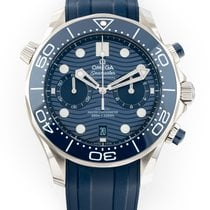 Omega Seamaster Diver 300 M new 2021 Automatic Chronograph Watch with original box and original papers 210.30.44.51.03.001