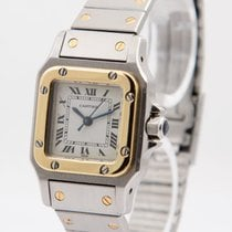 Cartier Gold/Steel 24mm Automatic Santos Galbée pre-owned