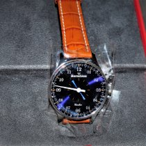 Meistersinger Circularis Steel 43mm Blue Arabic numerals