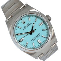 Rolex Oyster Perpetual 36 Steel 36mm Blue No numerals