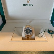 Rolex Day-Date 36 Gelbgold 36mm Blau Keine Ziffern Schweiz, Macolin