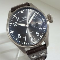 IWC White gold Grey 46mm pre-owned Big Pilot