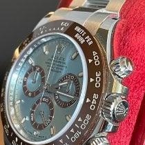 Rolex Daytona подержанные 40mm Синий Хронограф Платина
