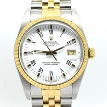 Rolex Oyster Perpetual Date 15223 Very good Gold/Steel 34mm Automatic