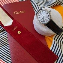 Cartier Steel Automatic Silver Roman numerals 42mm pre-owned Ronde Solo de Cartier