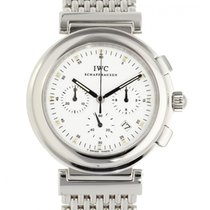 IWC Da Vinci Chronograph gebraucht 37mm Weiß Chronograph Datum Stahl