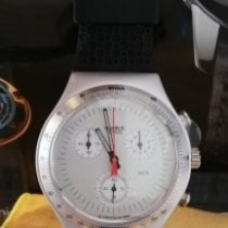 Swatch Aluminum Quartz Silver No numerals 39mm new