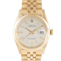 Rolex Datejust Yellow gold 36mm Silver