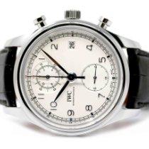 IWC Portuguese Chronograph Acero 42mm Blanco Arábigos España, Madrid