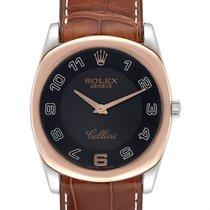 Rolex Cellini Danaos Roségold 34mm Schwarz Arabisch