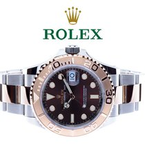 Rolex Yacht-Master 40 Золото/Cталь 40mm Коричневый Без цифр