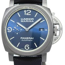 Panerai Luminor Marina подержанные 44mm Синий Ткань