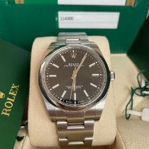 Rolex Oyster Perpetual 39 Acero 39mm Negro Sin cifras