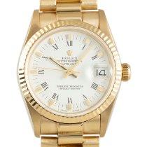 Rolex Datejust 31 Yellow gold 31mm White