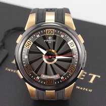 Perrelet new Automatic Central seconds Luminous numerals Limited Edition PVD/DLC coating 50mm Rose gold