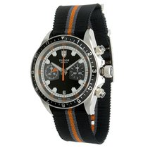 Tudor Heritage Chrono pre-owned 42mm Black Chronograph Date GMT Textile