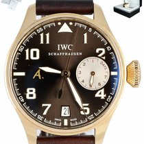 IWC Rose gold Automatic Brown 46mm pre-owned Big Pilot