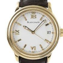 Blancpain Léman Ultra Slim Желтое золото 38mm Белый