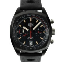 TAG Heuer Titanium Automatic Black 42mm pre-owned Monza