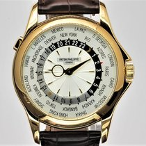 Patek Philippe World Time Yellow gold 39,5mm Silver Arabic numerals