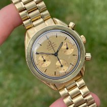 Omega Red gold Automatic Gold No numerals 39mm pre-owned Speedmaster Reduced