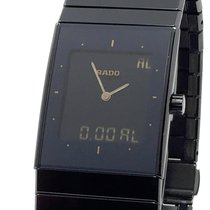 Rado Ceramica pre-owned 33mm Black Chronograph Date Weekday Month Year Alarm GMT Ceramic