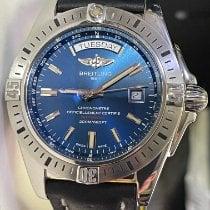 Breitling Galactic 44 Сталь 44mm Синий Без цифр