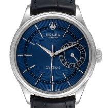 Rolex Cellini Date Oro bianco 39mm Blu