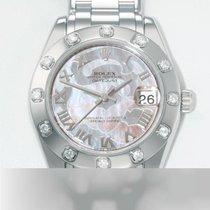 Rolex Lady-Datejust Pearlmaster Белое золото 34mm Перламутровый Римские