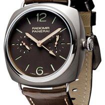 Panerai Radiomir Tourbillon GMT Titanium 48mm Brown Arabic numerals