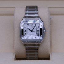 Cartier Santos (submodel) Steel 35.1mm Silver Roman numerals United States of America, Tennesse, Nashville