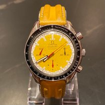 Omega Speedmaster Steel 39mm Yellow No numerals United States of America, Texas, Fort Worth