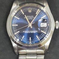 勞力士 Oyster Perpetual Date 鋼 34mm 藍色 無數字