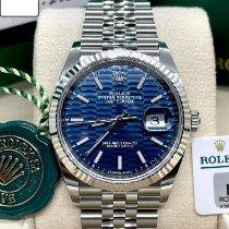 Rolex Datejust Staal 36mm Blauw Geen cijfers Nederland, Katwijk aan zee