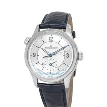 Jaeger-LeCoultre Master Geographic pre-owned 39mm Silver GMT Buckle